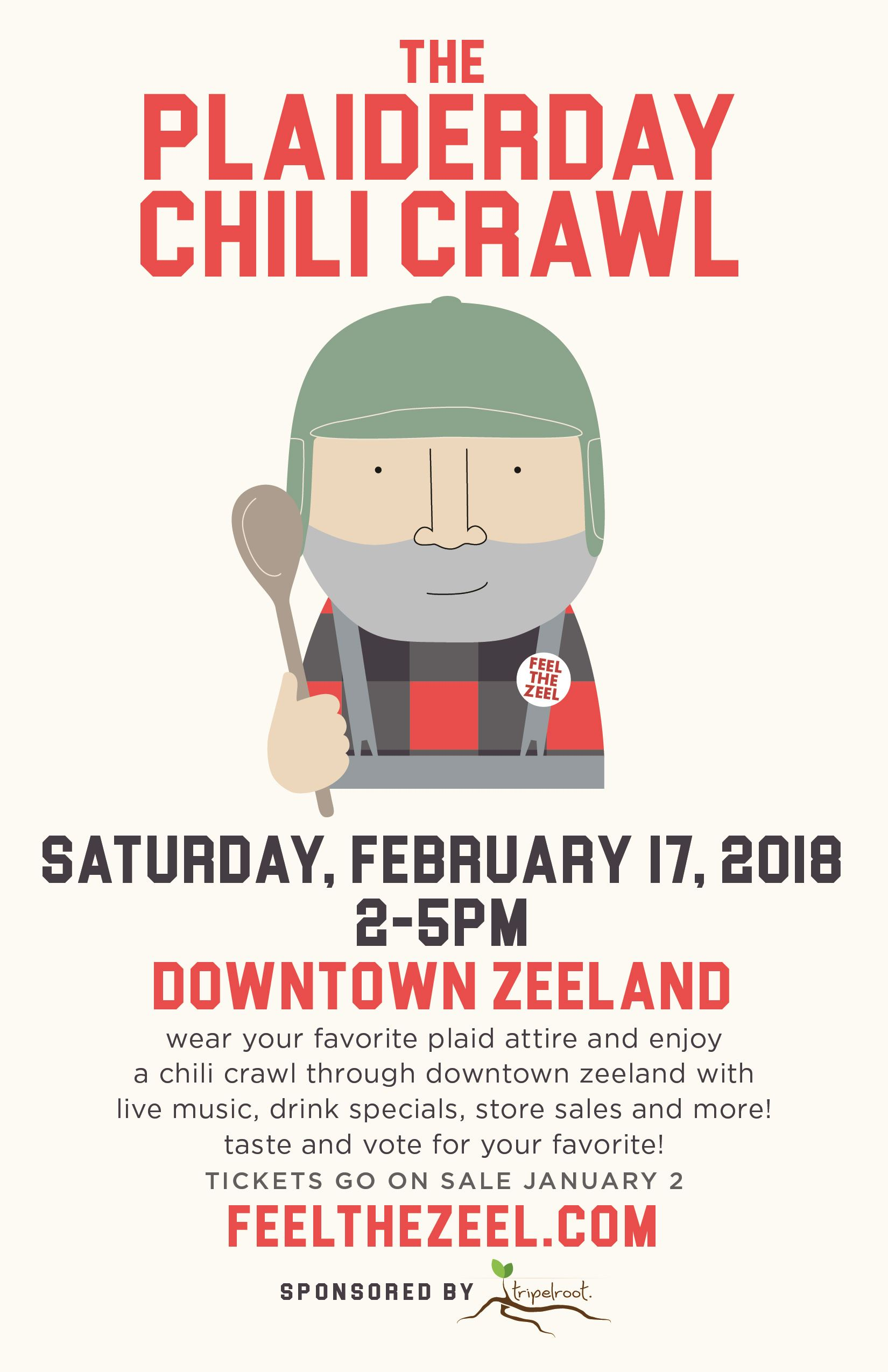 The Plaiderday 2018 Chili Crawl_Facebook Ad_Sponsored by Tripelroot