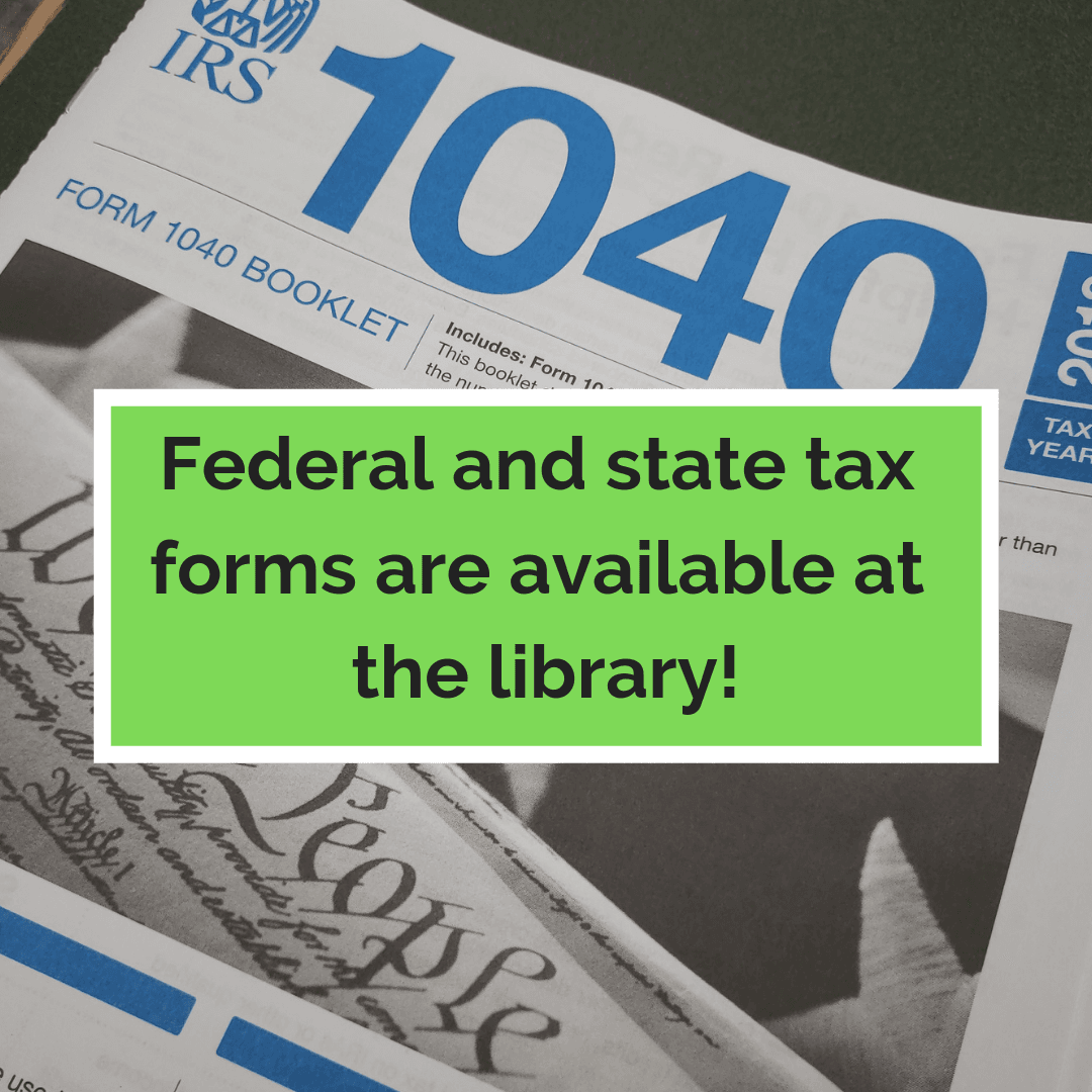 Tax Forms available at library