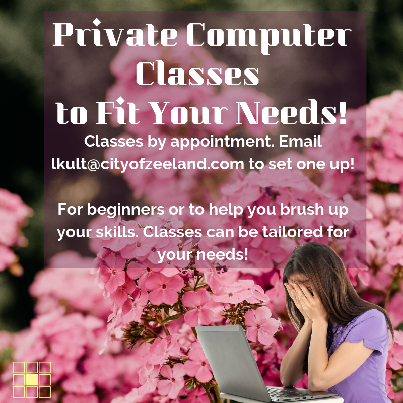 Summer Spring Private Computer Classes to Fit Your Needs Web Post