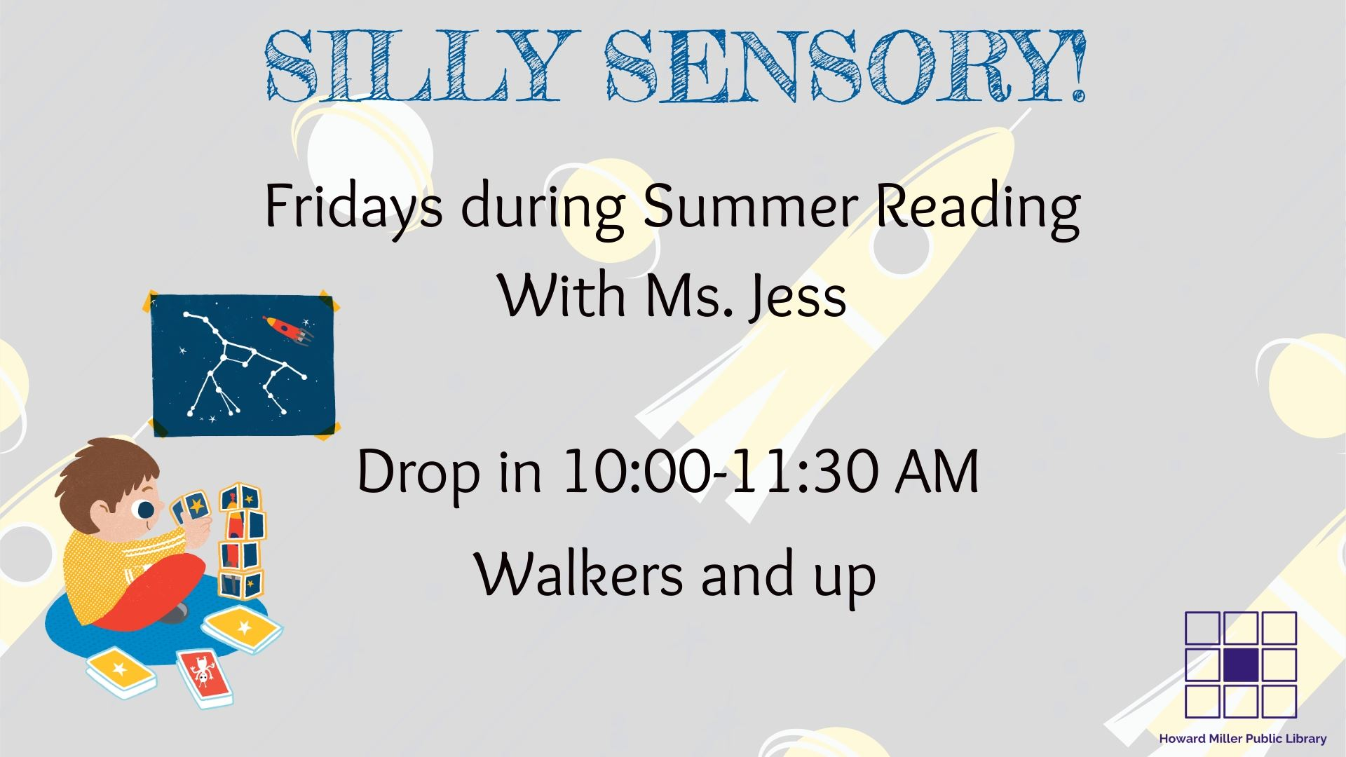 Summer Reading Silly Sensory Friday at 10 AM