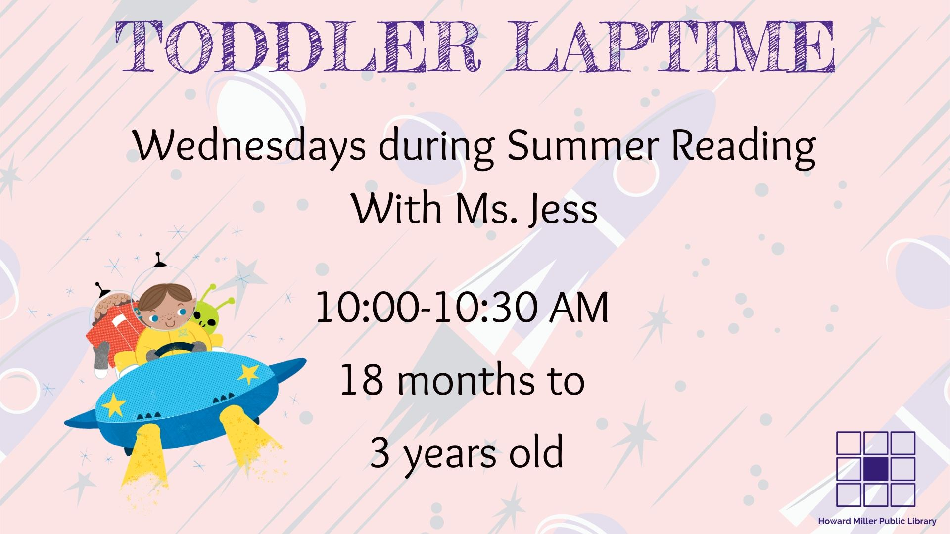 Summer Reading Toddler Laptime Wednesdays at 10 AM