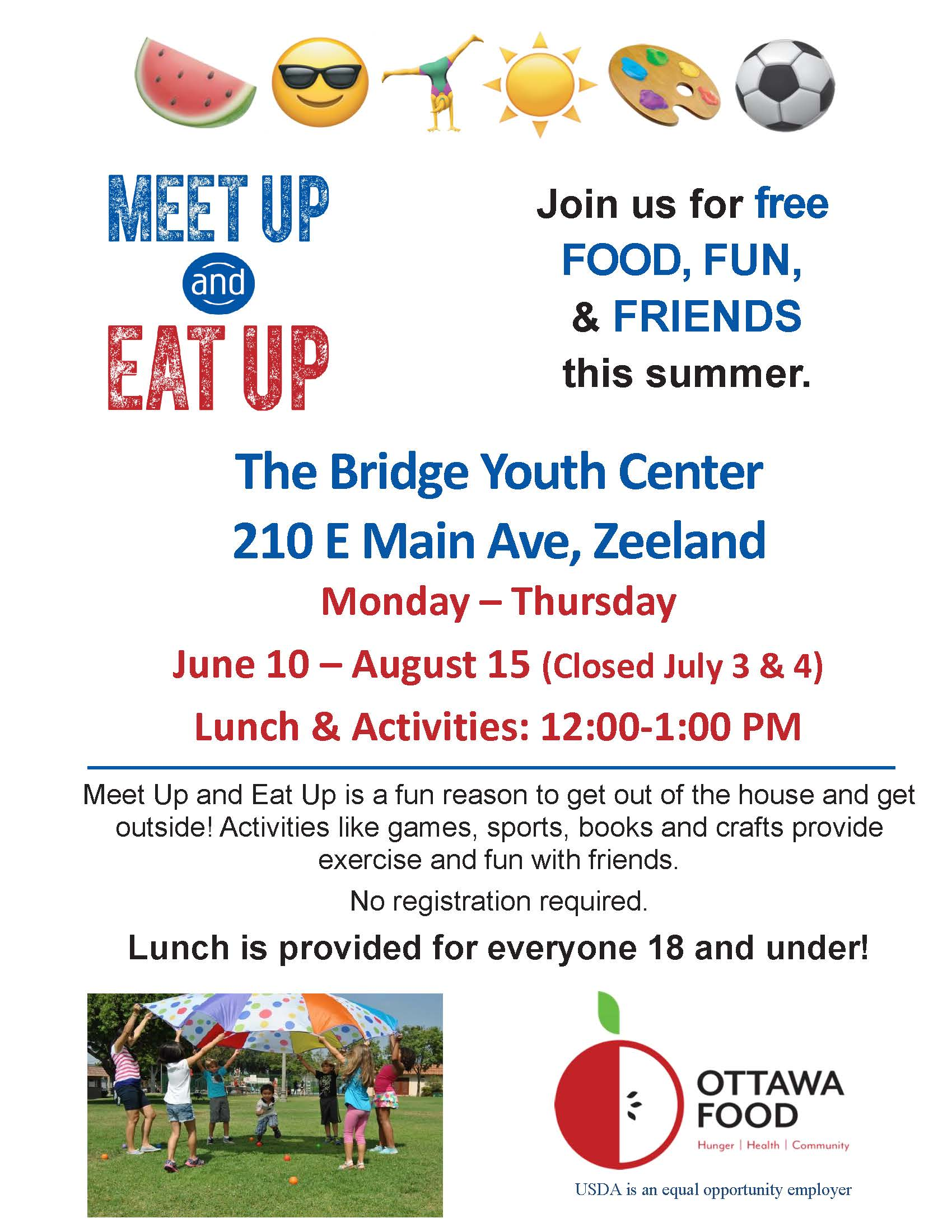 Meet Up and Eat Up The Bridge-Zeeland-May 31, 2019