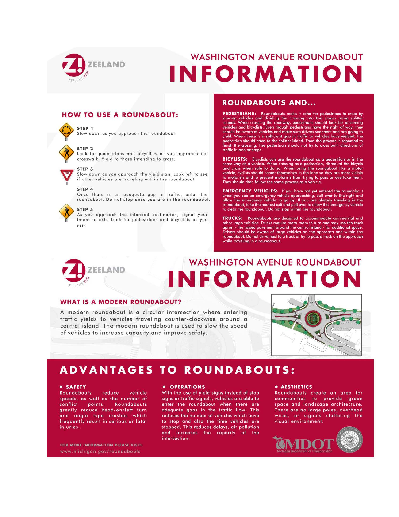 How to Use a Roundabout Information-One Page-August 2019