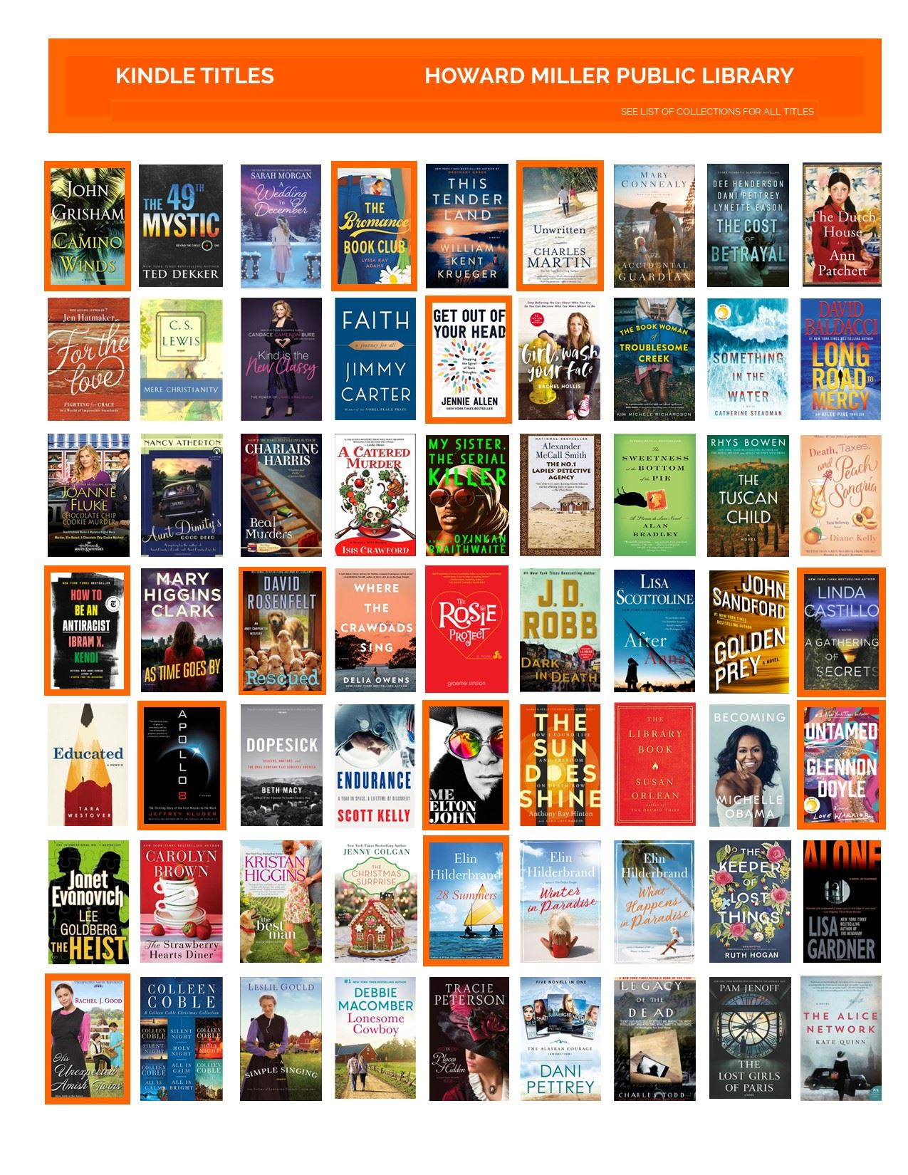 Collage of Kindle Titles