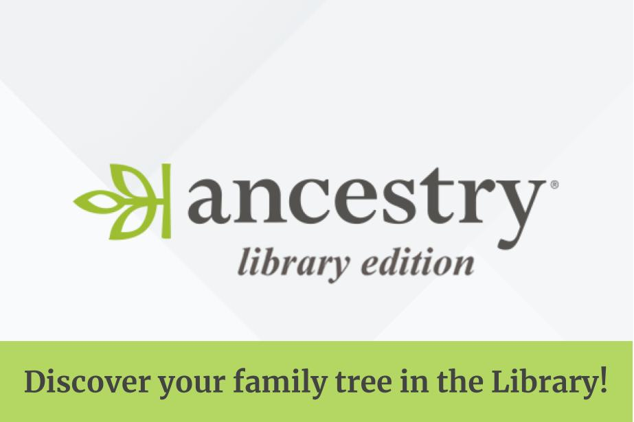 Ancestry Library Logo Access Family History From the Library