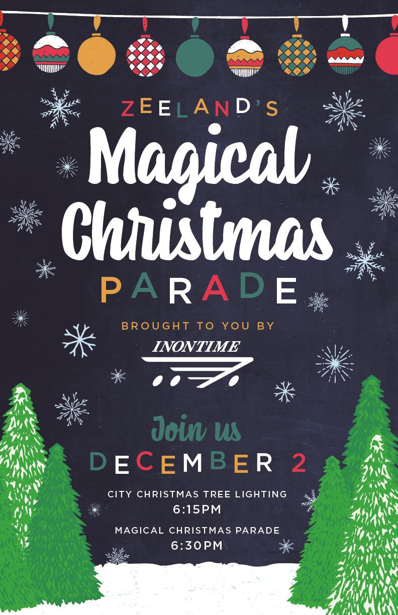 Zeelands Magical Christmas Parade Poster-2019
