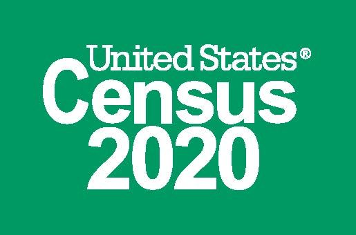 2020 Logo_Census 2020_Reversed_Green_Preferred