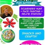 St Patricks Day Party March 17 2020 530 to 730 Fun activities Crafts Balloon Artist