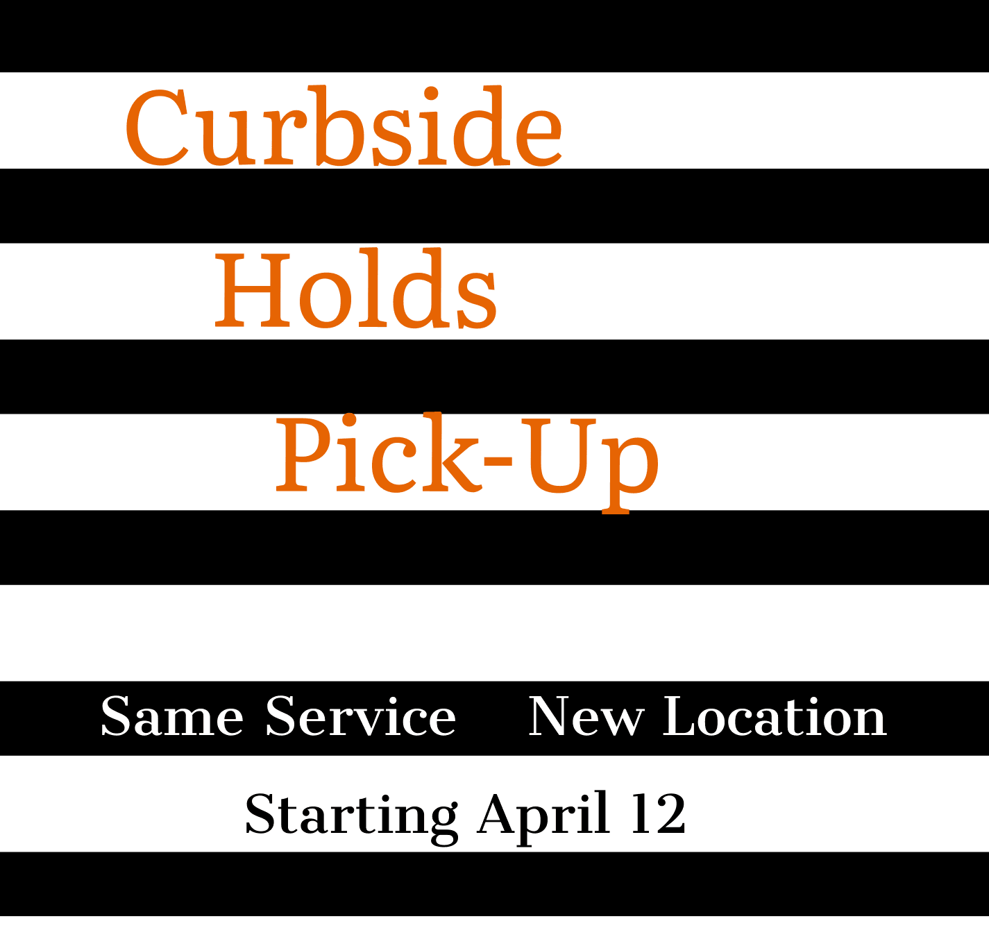 Curbside pick up is moving