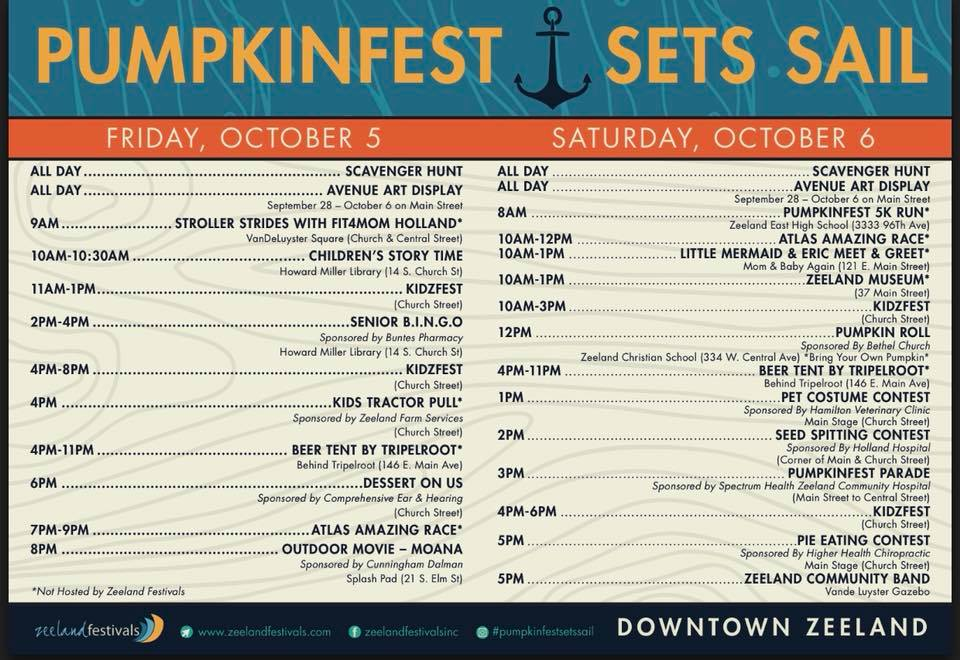 Pumpkinfest ScheduleofEvents