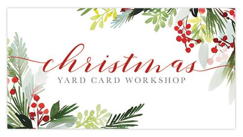 christmas yard card button