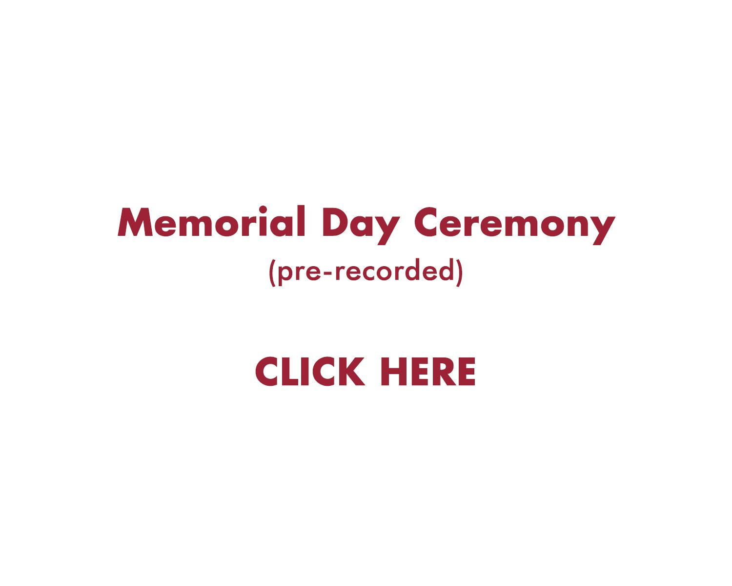 memorial day ceremony
